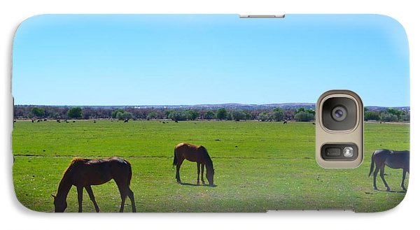 Galaxy Case featuring the photograph Horses In New Mexico by Utopia Concepts