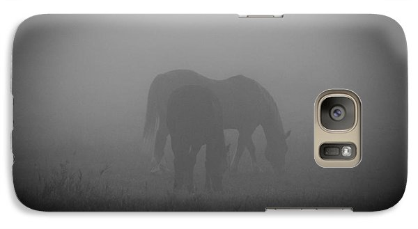 Galaxy Case featuring the photograph Horses In The Mist. by Cheryl Baxter