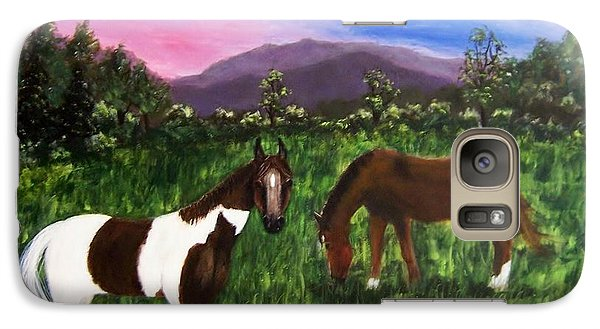 Galaxy Case featuring the painting Horses by Jamie Frier