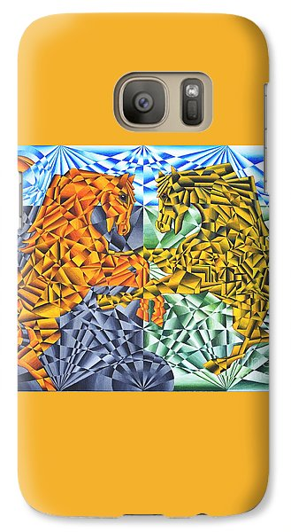 Galaxy Case featuring the painting Horses Of A Different Color by Joseph J Stevens