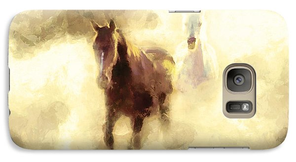 Galaxy Case featuring the painting Horses Of The Mist by Greg Collins
