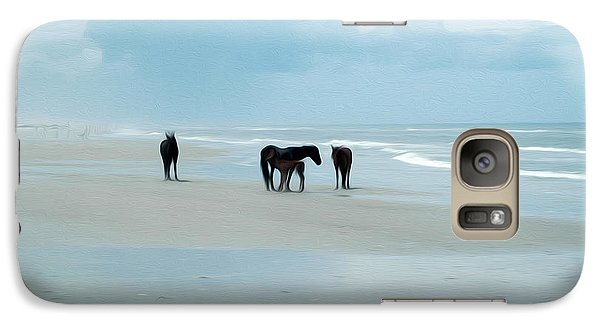 Galaxy Case featuring the digital art Horses Of The Obx by Kelvin Booker