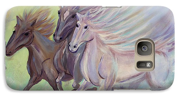 Galaxy Case featuring the painting Horses Of The Sea by Stacey Zimmerman