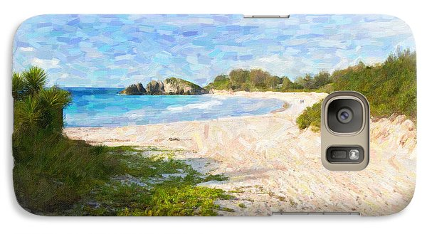 Galaxy Case featuring the photograph Horseshoe Bay In Bermuda by Verena Matthew