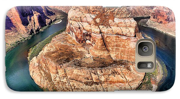 Galaxy Case featuring the photograph Horseshoe Bend In Arizona by Mitchell R Grosky