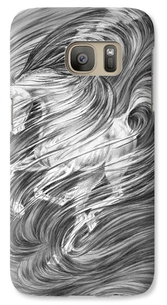 Galaxy Case featuring the drawing Horsessence - Fantasy Dream Horse Print by Kelli Swan