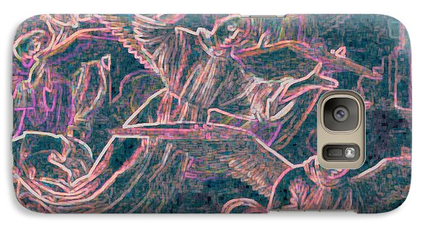 Galaxy Case featuring the digital art Host Of Angels Pink by First Star Art