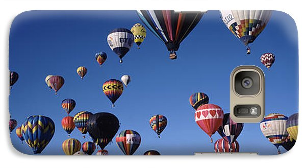 Space Ships Galaxy S7 Case - Hot Air Balloons Floating In Sky by Panoramic Images