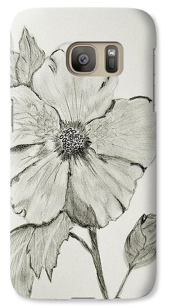 Galaxy Case featuring the drawing Hot Biscuit by Celeste Manning