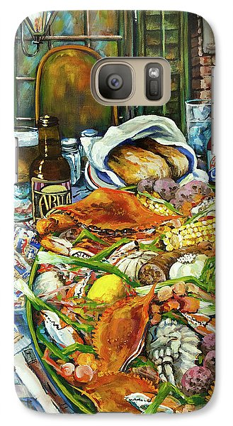 Galaxy Case featuring the painting Hot Boiled Crabs by Dianne Parks