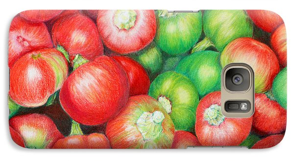 Galaxy Case featuring the painting Hot Cherry Peppers by Mariarosa Rockefeller