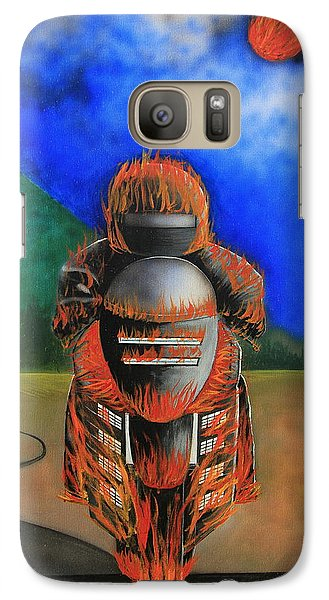 Galaxy Case featuring the painting Hot Moto by Tim Mullaney