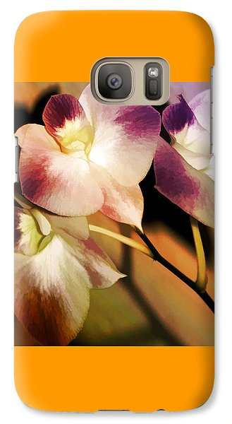 Galaxy Case featuring the photograph Hot Orchid Nights by Holly Kempe
