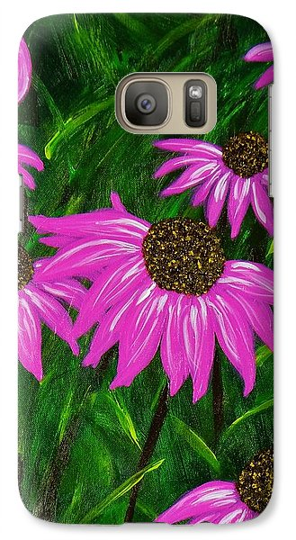 Galaxy Case featuring the painting Hot Pink Jungle by Celeste Manning