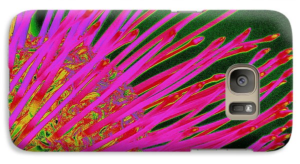 Galaxy Case featuring the photograph Hot Pink Protea by Ranjini Kandasamy