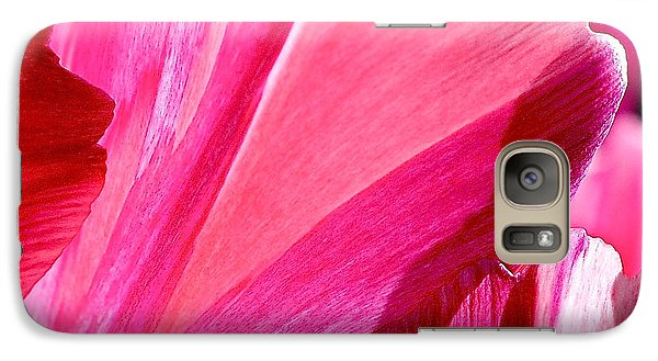 Hot Pink Galaxy S7 Case by Rona Black