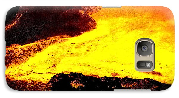 Galaxy Case featuring the photograph Hot Rock And Lava by Pennie  McCracken