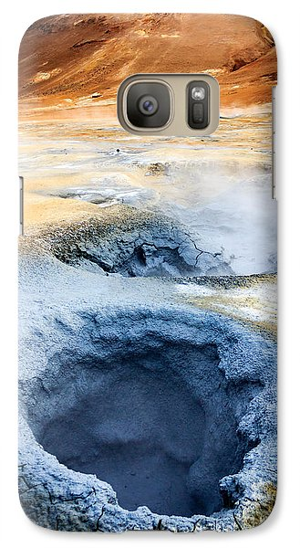 Galaxy Case featuring the photograph Hot Springs At Namaskard In Iceland by Peta Thames