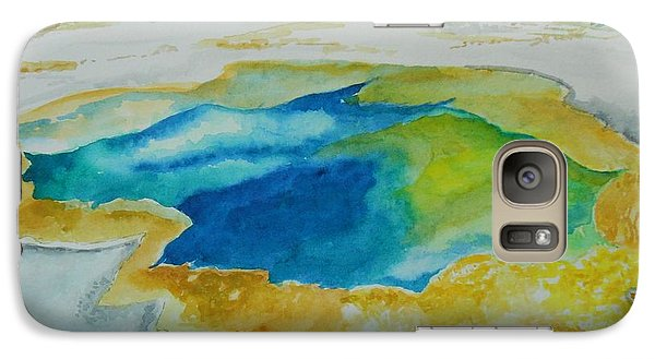 Galaxy Case featuring the painting Hot Springs Yellowstone National Park by Geeta Biswas
