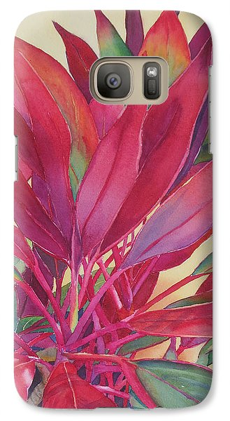 Galaxy Case featuring the painting Hot Ti by Judy Mercer
