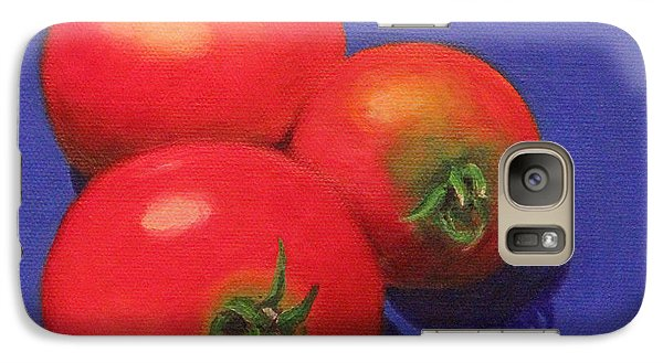 Galaxy Case featuring the painting Hot Tomatoes by Janet Greer Sammons