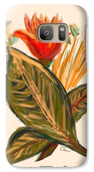 Galaxy Case featuring the digital art Hot Tulip Spring by Christine Fournier
