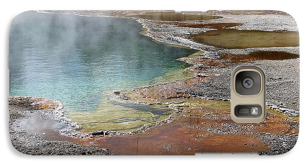 Galaxy Case featuring the photograph Hot Water At Yellowstone by Laurel Powell