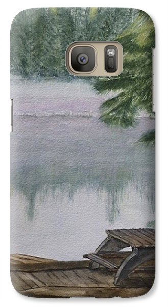 Galaxy Case featuring the painting Hotel Lake Resort In Bc by Kelly Mills