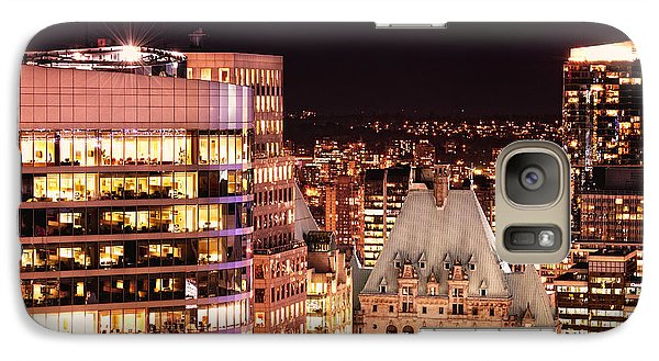Galaxy Case featuring the photograph Hotel Vancouver And Wall Center Mdccv by Amyn Nasser