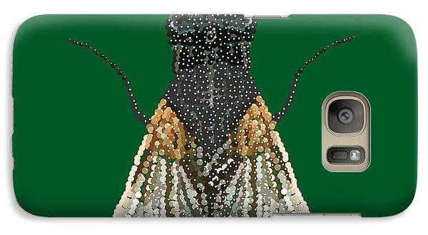 Galaxy Case featuring the digital art House Fly In Green by R  Allen Swezey