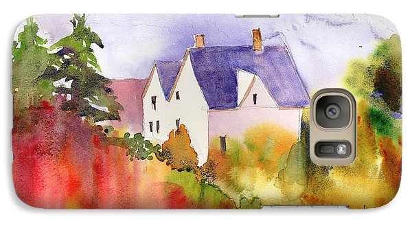 Galaxy Case featuring the painting House In The Country by Yolanda Koh