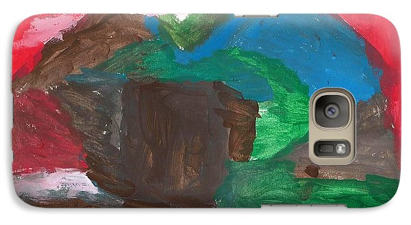 Galaxy Case featuring the painting House In The Hills by Artists With Autism Inc