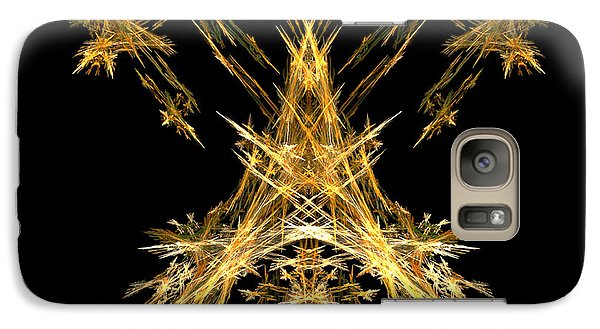 Galaxy Case featuring the digital art House Of Lightning  by R Thomas Brass