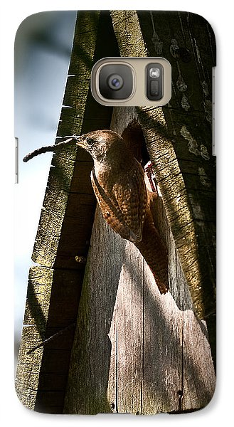 House Wren At Nest Box Galaxy S7 Case by  Onyonet  Photo Studios