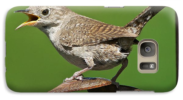 Galaxy Case featuring the photograph House Wren Chirping  by Stephen  Johnson