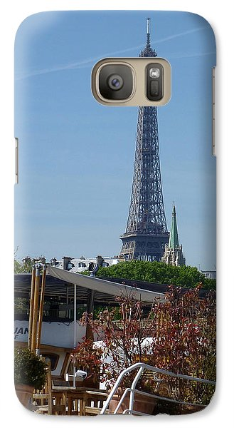 Galaxy Case featuring the photograph Houseboat On The Seine by Susan Alvaro