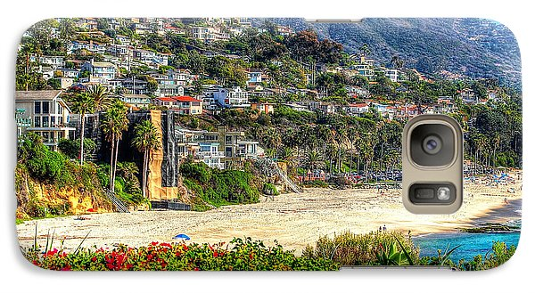 Galaxy Case featuring the photograph Houses By The Sea by Kevin Ashley