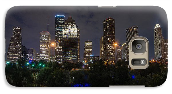 Houston Skyline At Night Galaxy S7 Case