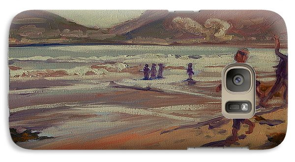 Galaxy Case featuring the painting Hout Bay Beach Sunset by Thomas Bertram POOLE