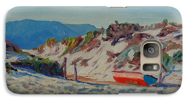 Galaxy Case featuring the painting Hout Bay Beach With Table Mountain by Thomas Bertram POOLE