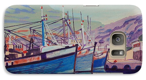 Galaxy Case featuring the painting Hout Bay Fishing Boats by Thomas Bertram POOLE