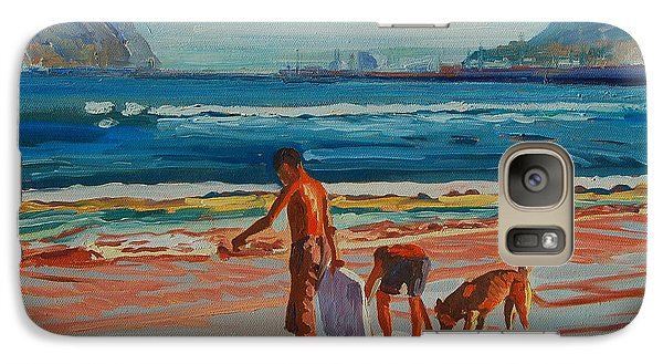 Galaxy Case featuring the painting Hout Bay Trio by Thomas Bertram POOLE