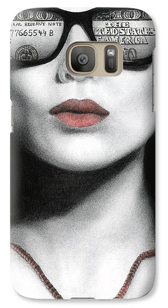 Galaxy Case featuring the painting How Do I Love Thee...let Me Count Your Money by Pat Erickson