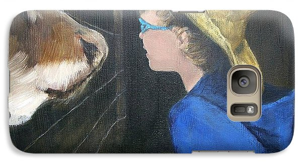 Galaxy Case featuring the painting How Now...? by Mary Lynne Powers