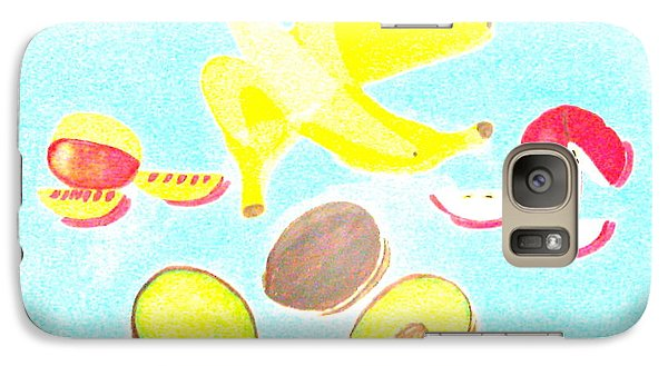 Galaxy Case featuring the painting How To Peel Cut And Slice by Lorna Maza