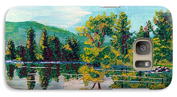Galaxy Case featuring the painting Howarth Park by Denise Deiloh
