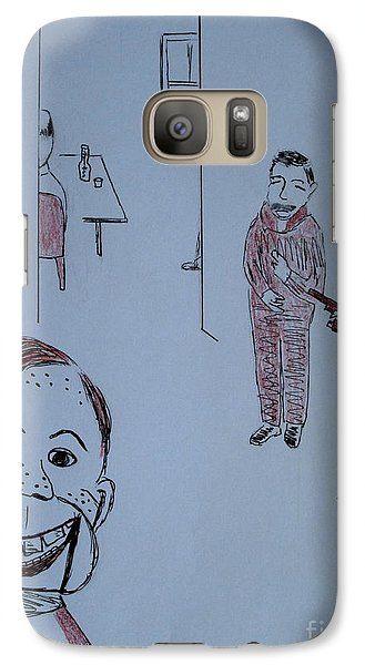 Galaxy Case featuring the drawing Howdy Lee And Me by Bill OConnor