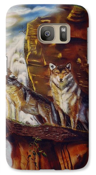 Galaxy Case featuring the painting Howling For The Nightlife  by Thomas J Herring