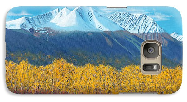 Galaxy Case featuring the painting Hudson Bay Mountain by Stanza Widen