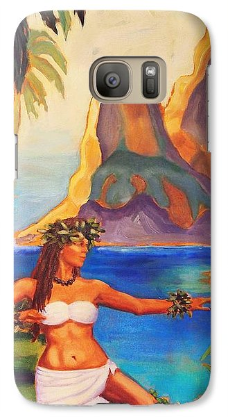 Galaxy Case featuring the painting Hula Glow by Janet McDonald